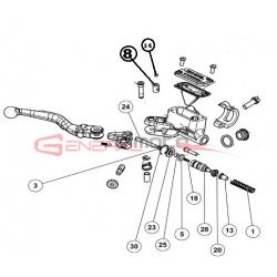 Kit pistone pompa freno anteriore 1° serie