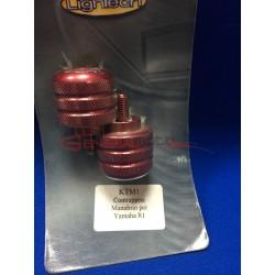 Contrappesi manubrio Lightech R1 colore rosso