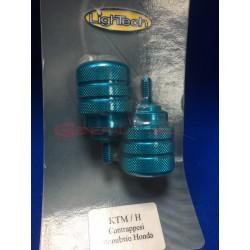Contrappesi manubrio Lightech Honda colore azzurro