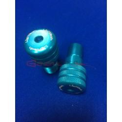 Contrappesi manubrio Lightech R6 color azzurro